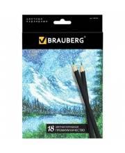 Цветные карандаши Artist line 18 цветов BRAUBERG