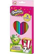 Набор цветных карандашей Шопкинс 12 цветов РОСМЭН