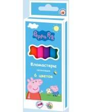 Фломастеры для рисования Свинка Пеппа неон 6 цветов РОСМЭН