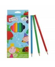 Набор цветных карандашей Бен и Холли 12 цветов РОСМЭН