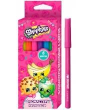 Фломастеры для рисования Шопкинс 6 цветов РОСМЭН