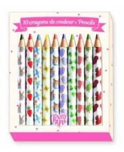 Цветные карандаши 10 шт Djeco
