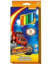 Цветные карандаши Вспыш 12 цветов РОСМЭН