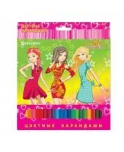 Цветные карандаши Pretty Girls 24 цвета BRAUBERG