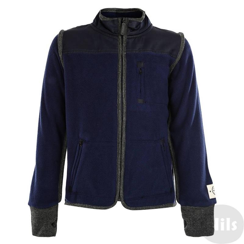 КурткаКуртка флисовая марки Molo для мальчиков.<br>Красивая и удобная куртка сшита из мягкого,плотного и износостойкого материала (полиэстер). Она надежно защитит ребенка от прохладного воздуха, ветра и влаги, при этом позволит коже дышать. Застегивается куртка на молнию. На рукавах - мягкие манжеты-резинки с отверстием для большого пальца. Дополнена удобными карманами.<br><br>Размер: 4 года<br>Цвет: Темносиний<br>Рост: 104<br>Пол: Для мальчика<br>Артикул: 623327<br>Страна производитель: Китай<br>Сезон: Осень/Зима<br>Состав: 100% Полиэстер<br>Бренд: Дания