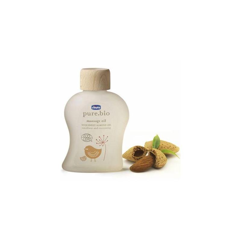 Масло массажное 12+ Pure Bio 100 мл (Chicco)