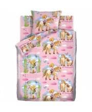 Комплект белья 1,5 спальное Кошки-Мышки Девочка и лошадка Непоседа
