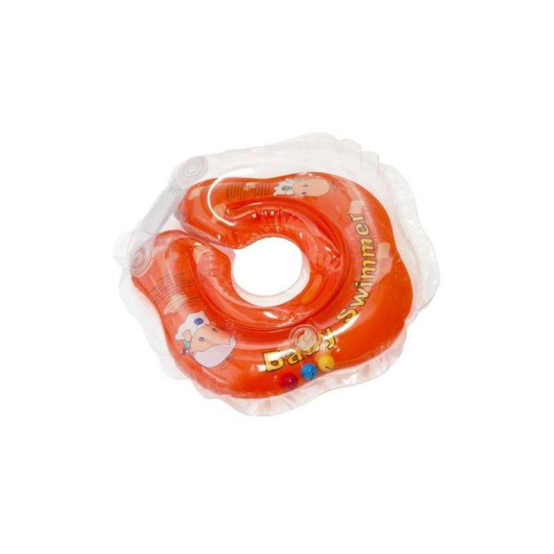 Круг на шею для купания с погремушкойКруг для купания Baby Swimmer оранжевыйподходит длядетей с первых дней жизни. Легко и надежно надевается, не стесняет движений. С ним ваш малыш будет комфортно чувствовать себя в воде.<br>Безопасные круги для купания – это удобство для детей и спокойствие для родителей. Круги одеваются на шею и фиксируются с помощью двусторонних липучек. На внутренней стороне круга есть специальное углубление для подбородка: в нем голова ребенка фиксируется, и исключается проскальзывание вниз. Двойные контуры для надувания обеспечивают дополнительную безопасность вашего малыша.Круги можно использовать для купания в ванне, в бассейне глубиной не более 1 метра или в джакузи. Ваш малыш сможет плескаться в воде столько, сколько захочет и будет делать это самостоятельно под вашим чутким присмотром.<br>Рассчитан на вес ребенка: от 3 до 12 кг.<br>Внутренний диаметр: 8-8,3 см, внешний: 36-37 см.<br><br>Возраст от: 0 месяцев<br>Пол: Не указан<br>Артикул: 624302<br>Страна производитель: Китай<br>Размер: от 0 месяцев