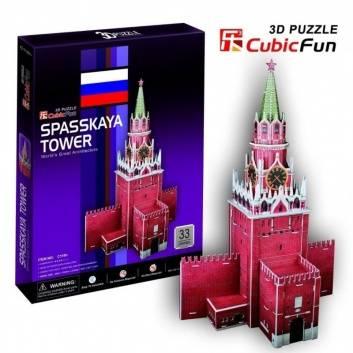 Игрушки, Пазл 3D-пазл Спасская башня 33дет CubicFun , фото