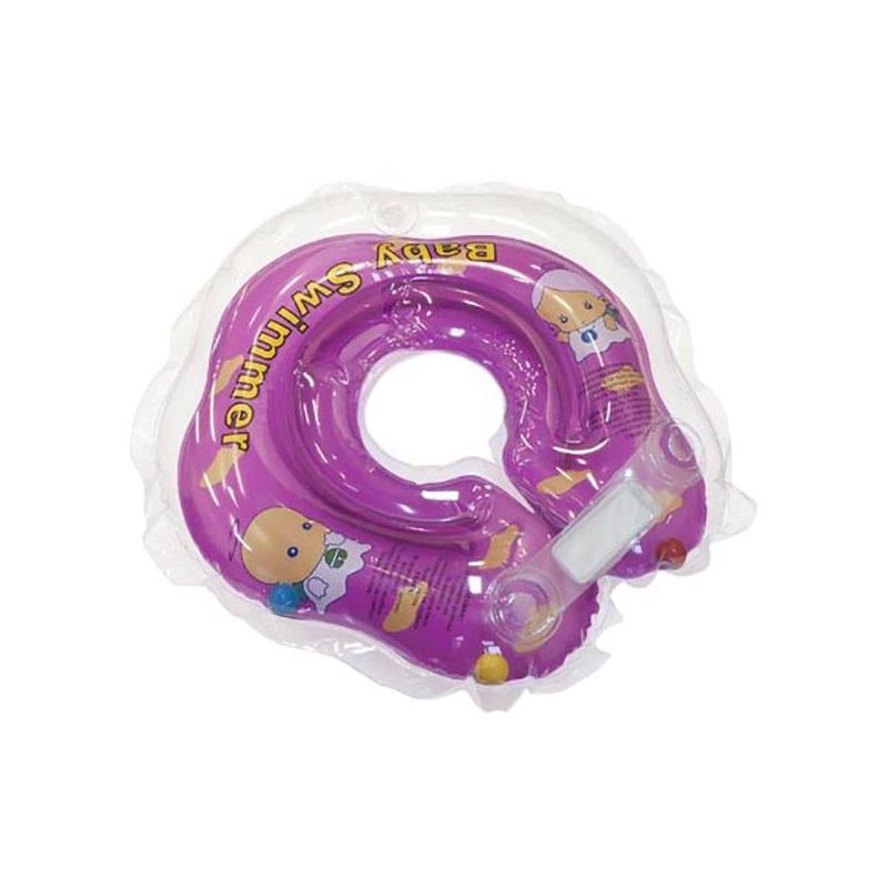 Круг на шею для купания с погремушкойКруг для купания Baby Swimmer фиолетовыйподходит длядетей с первых дней жизни. Легко и надежно надевается, не стесняет движений. С ним ваш малыш будет комфортно чувствовать себя в воде.<br>Безопасные круги для купания – это удобство для детей и спокойствие для родителей. Круги одеваются на шею и фиксируются с помощью двусторонних липучек. На внутренней стороне круга есть специальное углубление для подбородка: в нем голова ребенка фиксируется, и исключается проскальзывание вниз. Двойные контуры для надувания обеспечивают дополнительную безопасность вашего малыша.Круги можно использовать для купания в ванне, в бассейне глубиной не более 1 метра или в джакузи. Ваш малыш сможет плескаться в воде столько, сколько захочет и будет делать это самостоятельно под вашим чутким присмотром.<br>Рассчитан на вес ребенка: от 3 до 12 кг.<br>Внутренний диаметр: 8-8,3 см, внешний: 36-37 см.<br><br>Возраст от: 0 месяцев<br>Пол: Не указан<br>Артикул: 624304<br>Страна производитель: Китай<br>Размер: от 0 месяцев