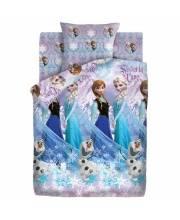 Детское постельное белье 15 спальное Холодное сердце Сёстры и Олаф Непоседа