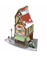 3D пазл Рождественский магазинчик сладостей с подсветкой CubicFun