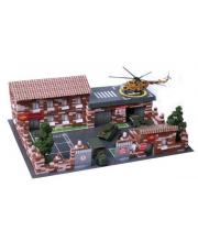 Конструктор Архитектурное моделирование Военная база 1460 деталей Диорама