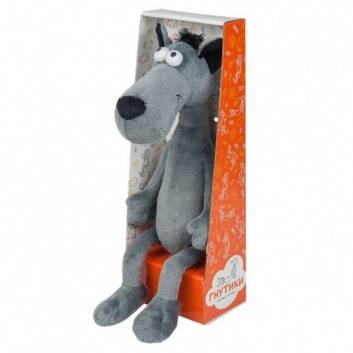 Игрушки, Мягкая Игрушка Волчок - Серый Бочок Гнутики 178903, фото