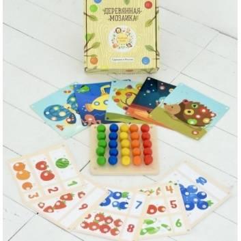 Творчество, Мозаика Основной набор 10 карточек Raduga Kids , фото