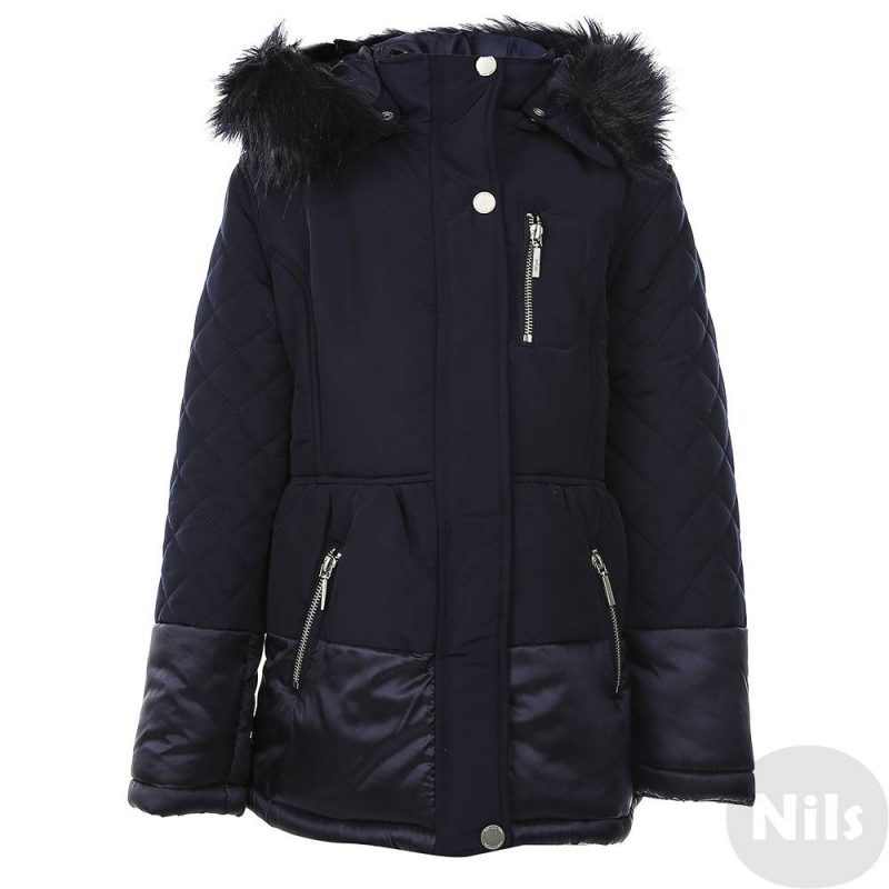 ПальтоПальтотемно-синегоцвета марки Mayoral для девочек. Осеннее пальтосо съемным капюшоном на кнопках имеет удобные карманы по бокам и на груди. Капюшон отделан искусственным мехом. Пальто застегивается на молнию и кнопки.<br><br>Размер: 12 лет<br>Цвет: Темносиний<br>Рост: 152<br>Пол: Для девочки<br>Артикул: 626224<br>Страна производитель: Китай<br>Сезон: Осень/Зима<br>Состав: 90% Полиэстер, 10% Полиамид<br>Состав подкладки: 100% Полиэстер<br>Бренд: Испания<br>Наполнитель: 100% Полиэстер