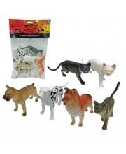 Набор фигурок собак и кошек 6 шт 15 см 1Toy
