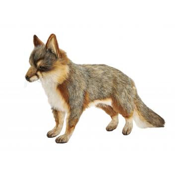 Игрушки, Серая лисица стоящая 40 см Hansa 226518, фото
