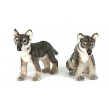 Игрушки, Щенок волка стоящий 30 см Hansa 226556, фото