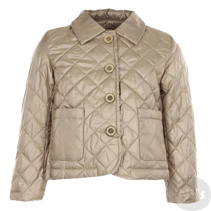 КурткаКуртка золотистогоцвета марки Gulliver длядевочек.Демисезонная стеганая курточка с тонким слоем утеплителя имеет подкладку на основе хлопка, застегивается на пуговицы. Куртка дополнена отложным воротничком, двумя карманами, а также вставкой-клином на спинке.<br><br>Размер: 3 года<br>Цвет: Золотой<br>Рост: 98<br>Пол: Для девочки<br>Артикул: 626876<br>Страна производитель: Китай<br>Сезон: Всесезонный<br>Состав: 80% Полиэстер, 20% Нейлон<br>Состав подкладки: 50% Хлопок, 50% Полиэстер<br>Бренд: Россия<br>Вид застежки: Молния