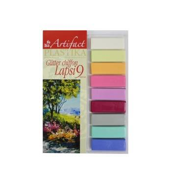 Творчество, Набор для творчества Lapsi Shiffon Glitter 9 цветов Artifact 226684, фото