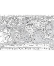 Раскраска-плакат Карта мира GLOBEN
