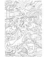 Раскраска-плакат Парк динозавров GLOBEN