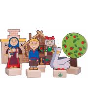 Набор Персонажи сказки Гуси-лебеди Краснокамская игрушка