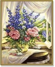 Раскраска по номерам Цветы на столе Schipper