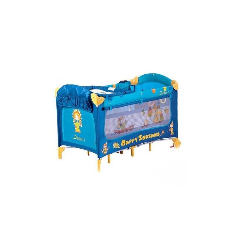 Jetem Манеж-кровать  Happy Indians blue C1