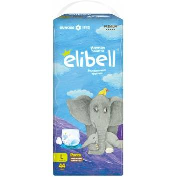 Гигиена, Трусики-подгузники L 9-14 кг 44 шт Elibell 232471, фото