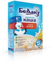 Каша молочная из 5-ти злаков 250 г Беллакт