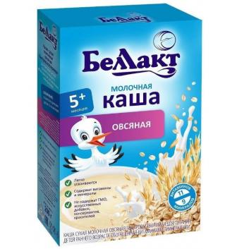 Питание, Каша молочная овсяная 200 г Беллакт 227762, фото