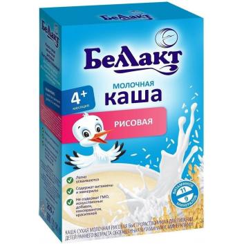 Питание, Каша молочная рис 200 г Беллакт 227764, фото