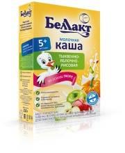 Каша молочная рисовая с тыквой и яблоком 250 г Беллакт