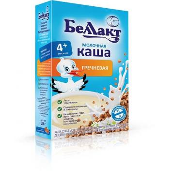 Питание, Каша молочная с гречневой мукой 200 г Беллакт 227766, фото