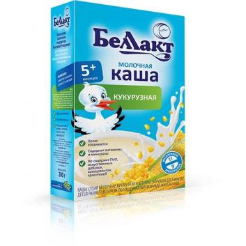 Питание, Каша молочная с кукурузной мукой 200 г Беллакт , фото