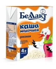 Каша молочная стерилизованная рисовая 207 г Беллакт