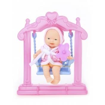 Игрушки, Кукла Пупс с качелькой и аксессуарами ESSA TOYS 228102, фото