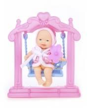 Кукла Пупс с качелькой и аксессуарами ESSA TOYS