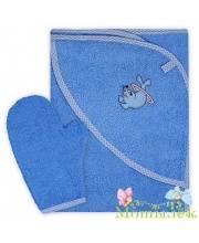 Полотенце-уголок с рукавичкой махров Осьминожка