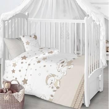 Малыши, Комплект в кроватку 7 пр Под звёздами Луняшки (коричневый)228223, фото