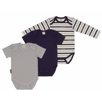 Малыши, Комплект боди 3 шт Lucky Child (серый)232987, фото