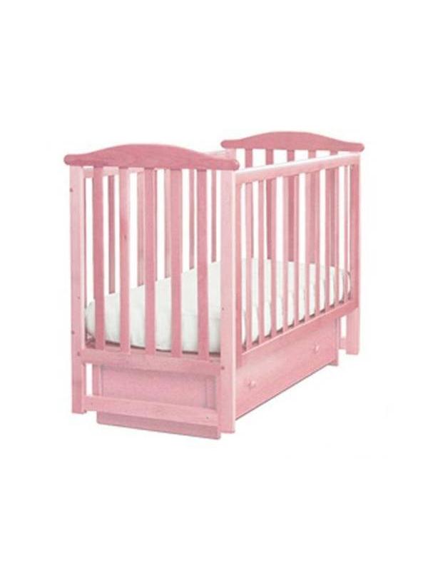 Кроватка  Лель Лютик розовая Кубаньлесстрой (розовый)