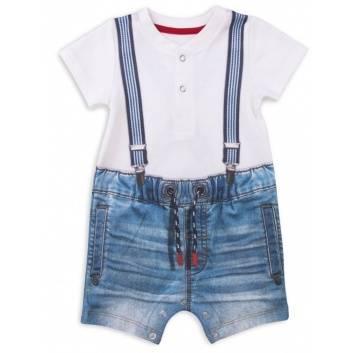 Малыши, Песочник Fashion Jeans Папитто (голубой)238404, фото