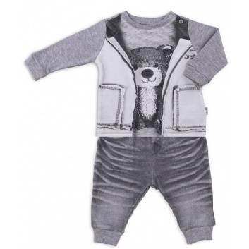 Малыши, Комплект Fashion Jeans 2 предмета Папитто (серый)238851, фото