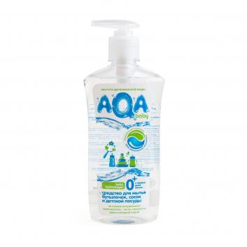 Гигиена, Средство для мытья бутылочек сосок и детской посуды 500 мл AQA Baby 504328, фото