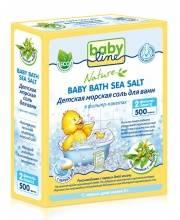 Детская морская соль для ванн 500 гр с чередой Babyline