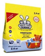 Порошок стиральный для детского белья универсальный 2400 г Ушастый нянь