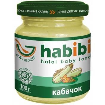 Питание, Пюре Кабачок 100 гр HABIBI , фото